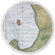 1763 Bellin Map Of Cape Town  Round Beach Towel