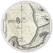 1773 Bellin Map Of The Cape Of Good Hope Capetown South Africa Round Beach Towel