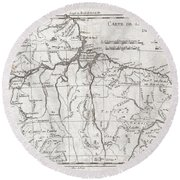 1780 Raynal And Bonne Map Of Northern Brazil Round Beach Towel