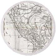 1780 Raynal And Bonne Map Of Peru Round Beach Towel