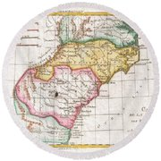 1780 Raynal And Bonne Map Of Southern United States Round Beach Towel