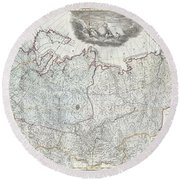 1787 Wall Map Of The Russian Empire Round Beach Towel