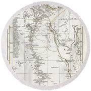 1794 Anville Map Of Ancient Egypt  Round Beach Towel