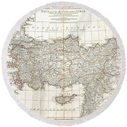1794 Anville Map Of Asia Minor In Antiquity Round Beach Towel
