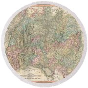 1799 Cary Map Of Swabia Germany Round Beach Towel