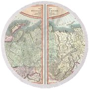 1799 Cary Map Of The Russian Empire Round Beach Towel