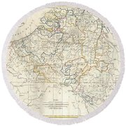 1799 Clement Cruttwell Map Of Belgium Or The Netherlands Round Beach Towel