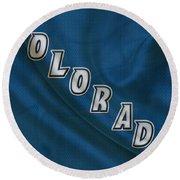 Colorado Avalanche Round Beach Towel