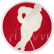 Detroit Red Wings Round Beach Towel