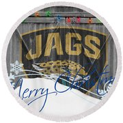 Jacksonville Jaguars Round Beach Towel by Joe Hamilton