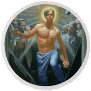 18. Jesus Rises / From The Passion Of Christ - A Gay Vision Round Beach Towel
