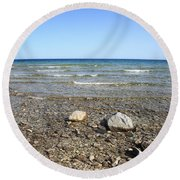 Lake Huron Round Beach Towel