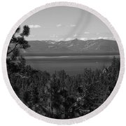 Lake Tahoe Round Beach Towel