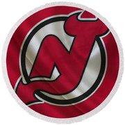 New Jersey Devils Round Beach Towel