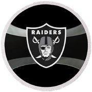 Oakland Raiders Round Beach Towel