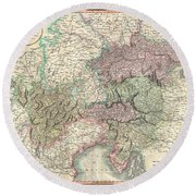 1801 Cary Map Of Austria Round Beach Towel