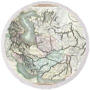 1801 Cary Map Of Persia  Iran Iraq Afghanistan Round Beach Towel