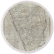 1804 German Edition Of The Rennel Map Of India Round Beach Towel