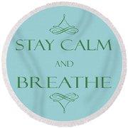 181- Breathe Round Beach Towel