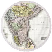 1814 Thomson Map Of India Round Beach Towel