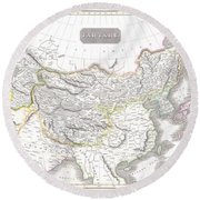 1814 Thomson Map Of Tartary  Mongolia Tibet Round Beach Towel