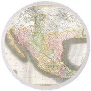 1814 Thomson Map Of Texas Mexico  Louisiana Round Beach Towel