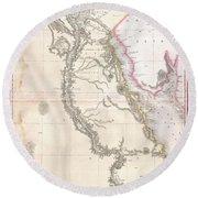 1818 Pinkerton Map Of Egypt Round Beach Towel