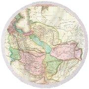 1818 Pinkerton Map Of Persia  Round Beach Towel