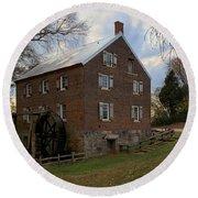 1823 North Carolina Grist Mill Round Beach Towel