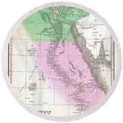 1827 Finley Map Of Egypt Round Beach Towel