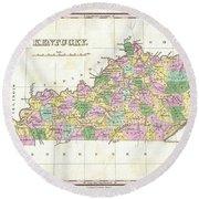 1827 Finley Map Of Kentucky Round Beach Towel