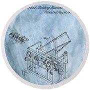 1836 Wood Molding Machine Round Beach Towel