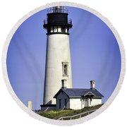1872 Historic Lighthouse Round Beach Towel