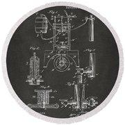 1890 Bottling Machine Patent Artwork Gray Round Beach Towel