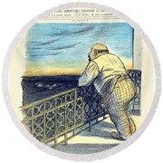 1897 - Le Rire Journal Humoristique Paraissant Le Samedi Magazine Cover - July 31 - Color Round Beach Towel
