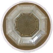 18th Century State House Rotunda Dome Round Beach Towel