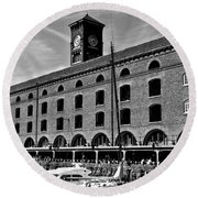 St Katherines Dock London Round Beach Towel