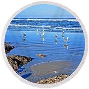 Yachats Oregon Round Beach Towel