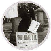 1900s British Suffragette Woman Round Beach Towel