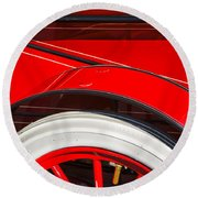 1903 Pope Hartford B Wheel Abstract Round Beach Towel