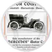 1904 - Daimler Motor Company Mercedes Advertisement - Color Round Beach Towel