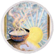 1906 - Quaker Oats Cereal Advertisement - Color Round Beach Towel