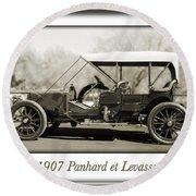 1907 Panhard Et Levassor Round Beach Towel