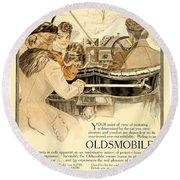 1909 - Oldsmobile Advertisement - Color Round Beach Towel