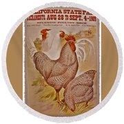 1909 California State Fair Poster Round Beach Towel