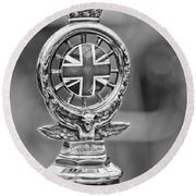 1909 Rolls-royce Silver Ghost Hood Ornament Round Beach Towel