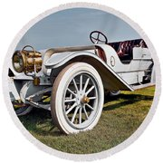 1910 Franklin Type H Touring Round Beach Towel by Marcia Colelli