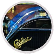 1911 Cadillac Roadster Round Beach Towel