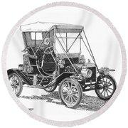 1911 Ford Model T Tin Lizzie Round Beach Towel by Jack Pumphrey