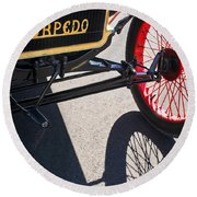 1911 Ford Model T Torpedo Grille Emblem Round Beach Towel by Jill Reger
